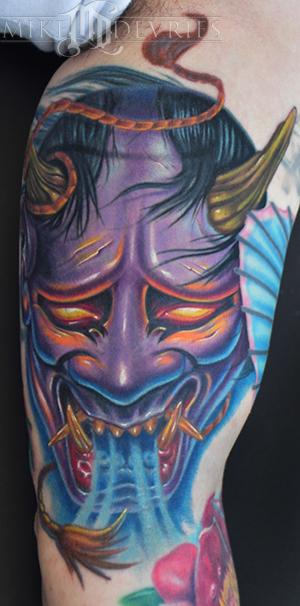 Mike DeVries - Hannya Mask Tattoo