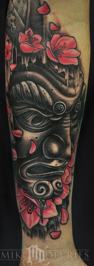 Japanese Mask Tattoo Tattoo Design Thumbnail
