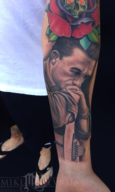 Mike DeVries - Johnny Cash Tattoo