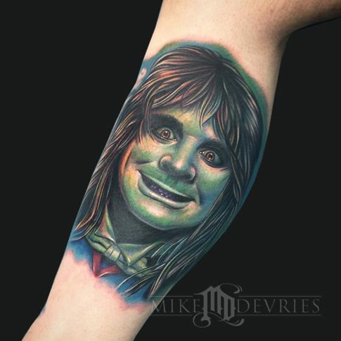 Mike DeVries - Ozzy Osbourne Tattoo