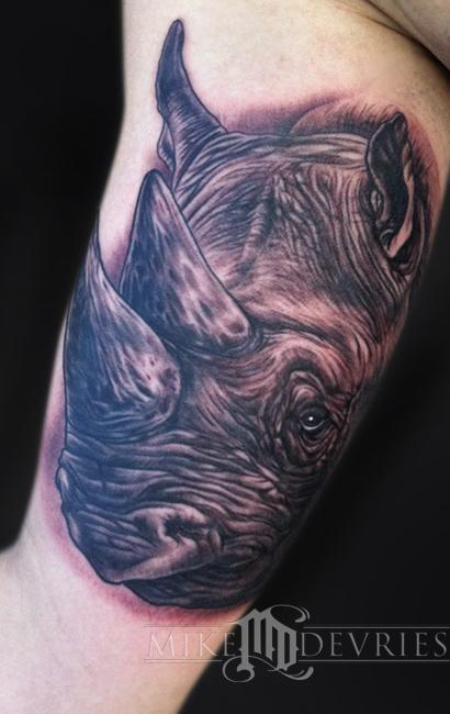 Mike DeVries - Rhino Tattoo