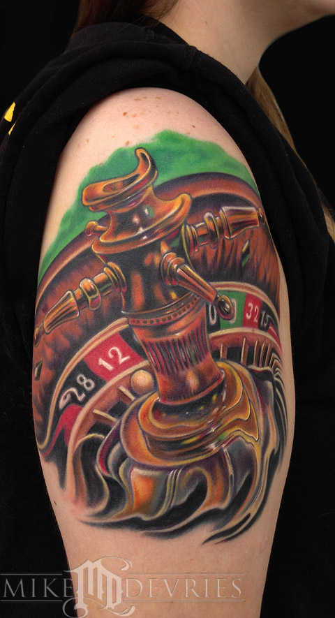 Tattoos - Roulette Wheel Tattoo - 71902