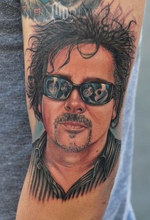 Mike DeVries - Tim Burton Tattoo