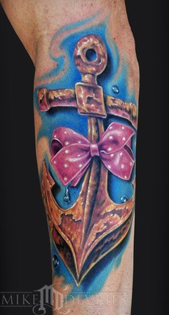 Mike DeVries - Anchor Tattoo
