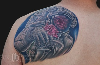 Mike DeVries - Astronaut Tattoo