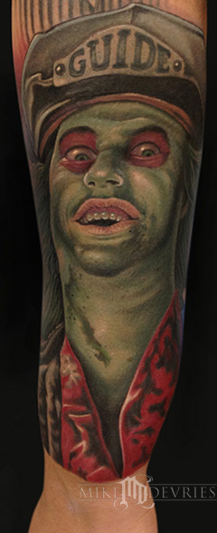 Mike DeVries - Beetlejuice Tattoo