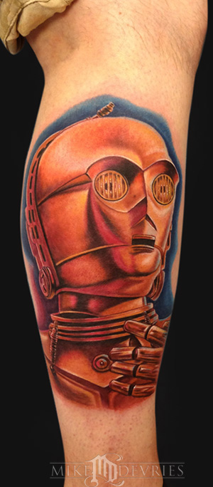 Mike DeVries - C-3PO Tattoo