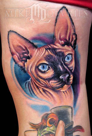 Mike DeVries - Cat Tattoo