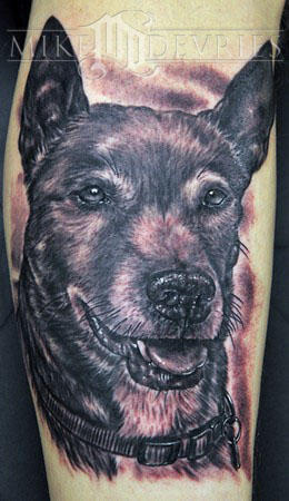Tattoos - Dog blk n gry - 34863