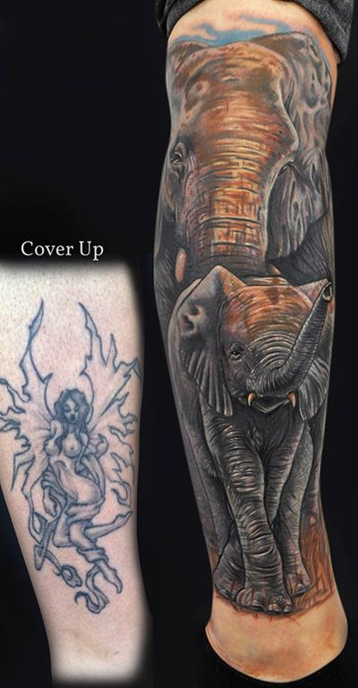 Mike DeVries - Elephant Tattoos