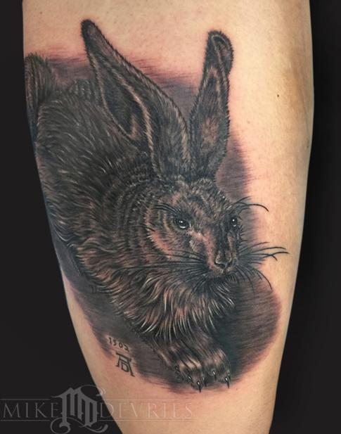 Mike DeVries - Hare Tattoo
