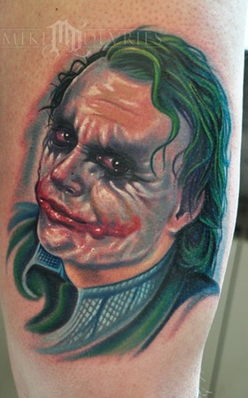 Mike DeVries - Joker Tattoo