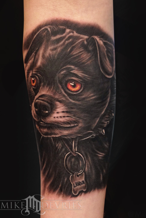 Mike DeVries - Labrador Pub Mix Tattoo
