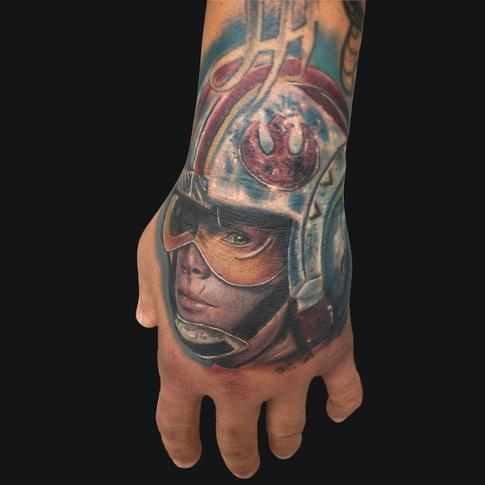Luke Skywalker Hand Tattoo Design Thumbnail