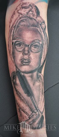 Mike DeVries - Marilyn Tattoo