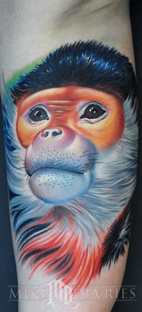 Tattoos - Monkey Tattoo  - 37071