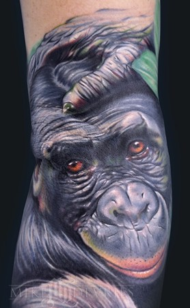 Mike DeVries Monkey Tattoo