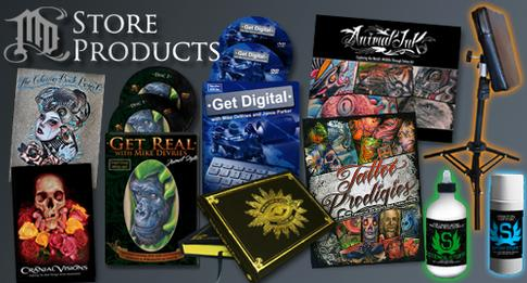 Tattoo Books, Tattoo Dvds, and Tattoo Clothing for sale