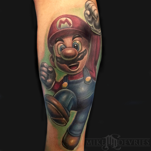 Mike DeVries - Super Mario Tattoo