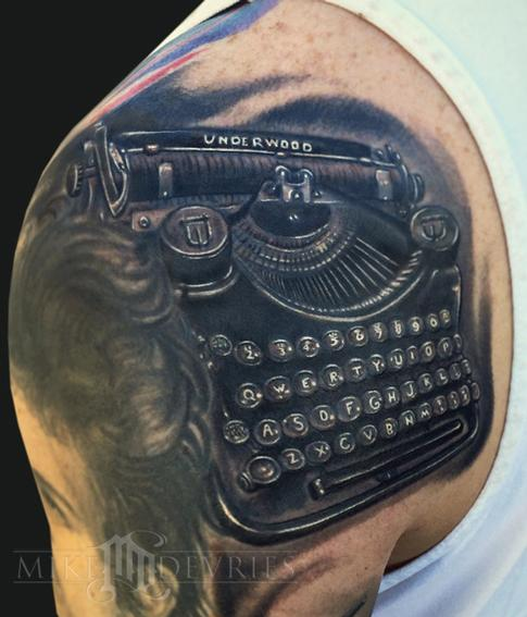 Typewriter Tattoo Tattoo Design Thumbnail