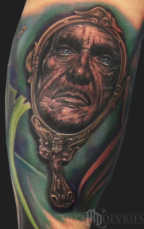 Mike DeVries - Vincent Price Tattoo