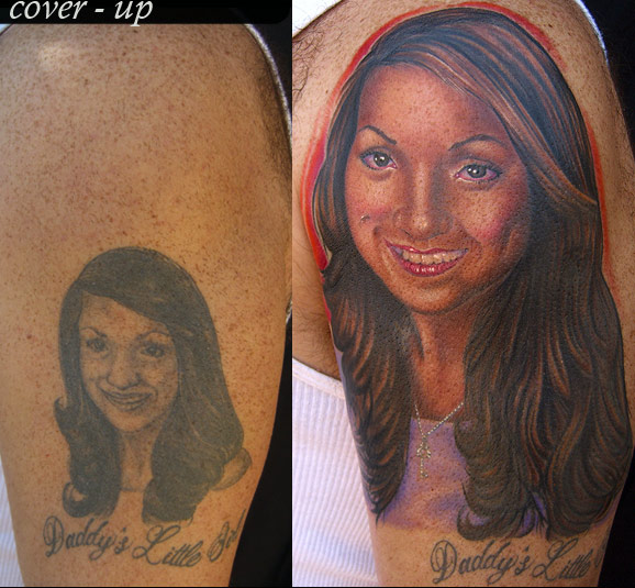 Tattoos - Portrait Cover-up Tattoo - 16809