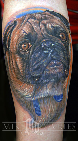 Tattoos - Pug life Tattoo - 23751