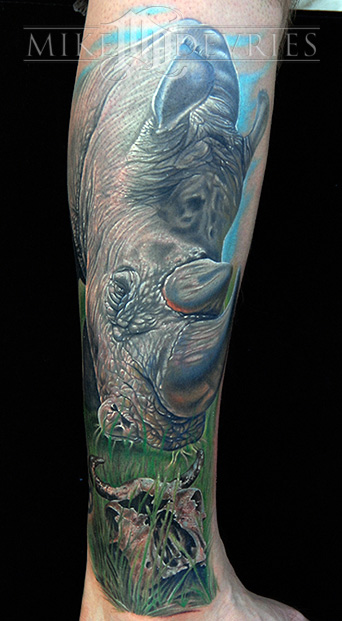 Tattoos - Rhino Tattoo - 28450