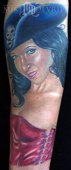 Mike DeVries - Pirate Pin-Up Tattoo