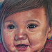 Little Girl Portrait  Tattoo Design Thumbnail