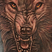 Wolf Tattoo Second Pass Tattoo Design Thumbnail