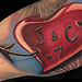 Tattoos - Custom Heart Tattoo - 86839