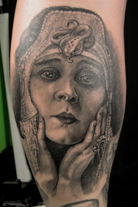 Theda Bara of Cleopatra - 1917 Tattoo Design Thumbnail