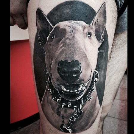 Matteo Pasqualin - Dog Portrait Tattoo