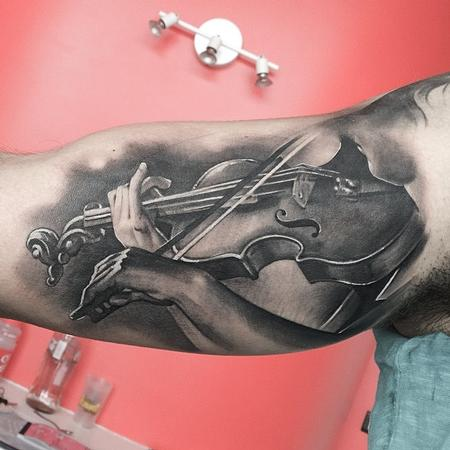 Tattoos - Violin Tattoo - 113714