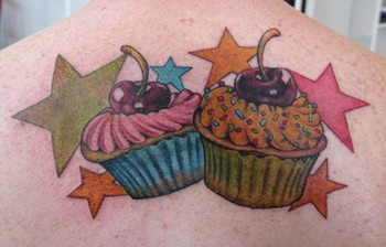 Tattoos - cupcakes and stars - 46419