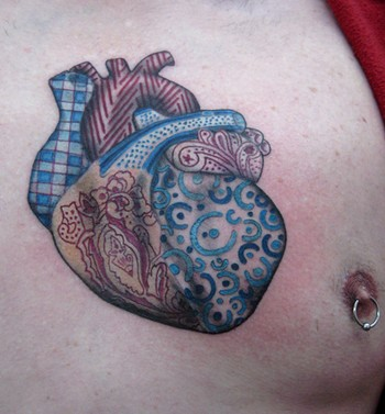 Tattoos - fabric heart - 46438
