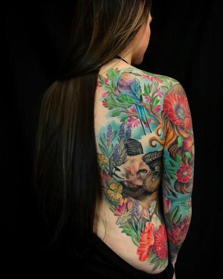 Melissa Fusco - Nature Goddess half back/full sleeve