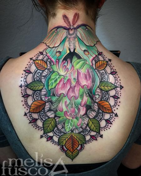 Melissa Fusco - Luna moth and ornate design