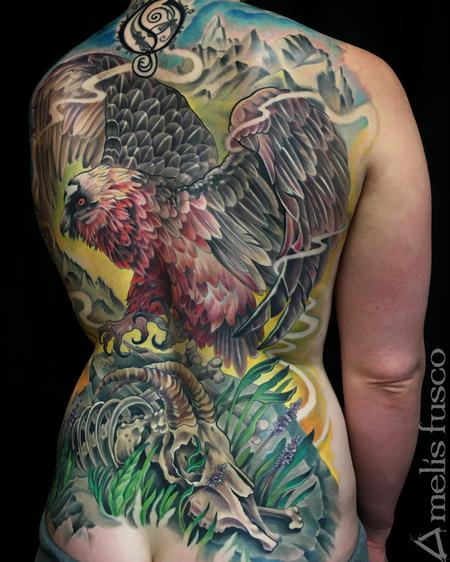 Tattoos - Bone eating Vulture - 122269
