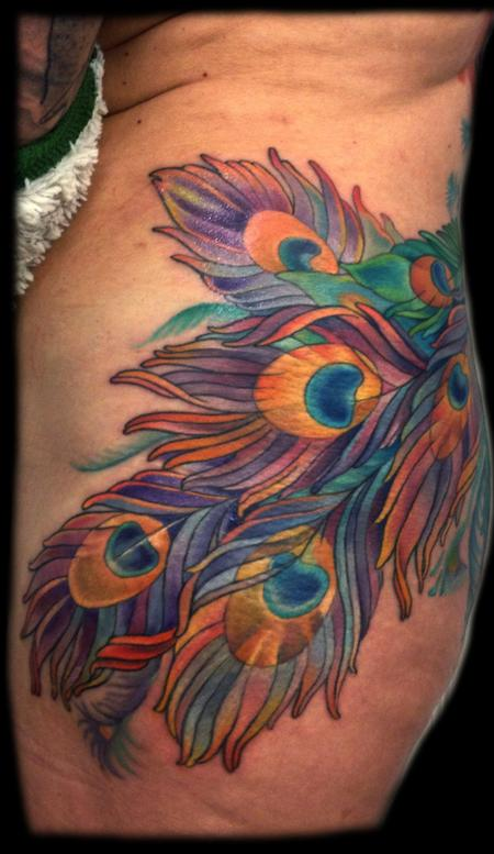 Tattoos - peacock feathers - 74273