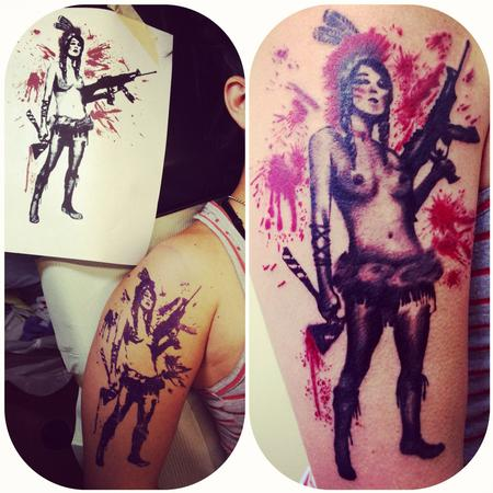Tattoos - Camanche Warrior Woman - 64709