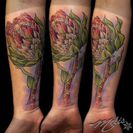 Tattoos - King Protea Flower - 94617