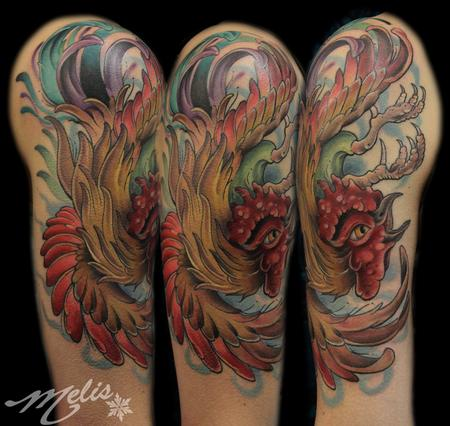 Melissa fusco 39 s tattoo designs tattoonow for Funky rooster tattoo and art gallery