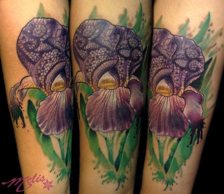 Lace Iris Tattoo Design Thumbnail