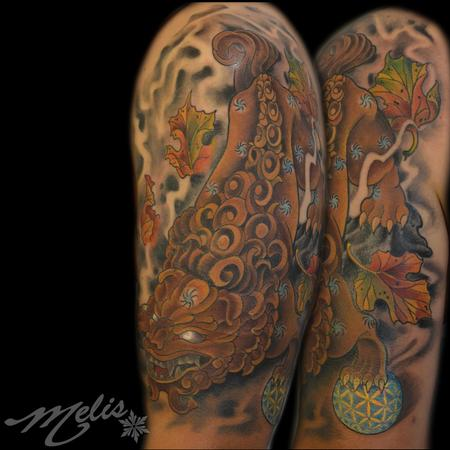 Tattoos - Male Foo Dog - 77517