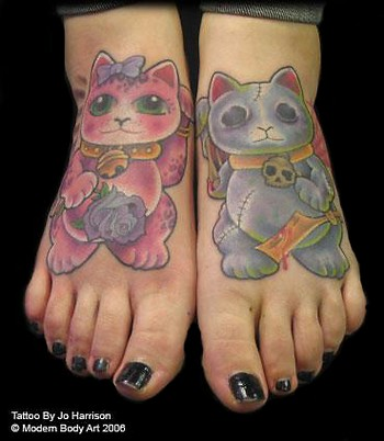 Tatto Foot on Paradise Tattoo Gathering   Tattoos   Jo Harrison   Cat Feet Tattoo