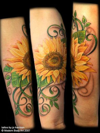 Tattoos - Sunflower Tattoo - 38605