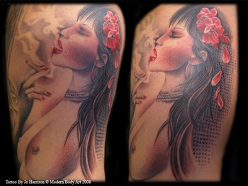 Tattoos - Smoking Pinup - 35495