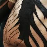 Blackwork Tree Back Tattoo (in-progress) Tattoo Design Thumbnail